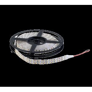 LED szalag LED1200 3528 20W/M 12V/DC IP20 2X120LED/m Meleg Fehér , 5 MÉTER (1 TEKERCS)