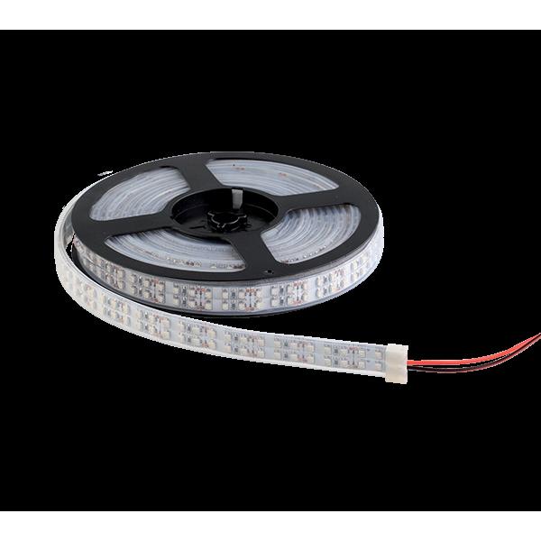LED szalag LED1200 3528 20W/M 12V/DC IP65 2X120LED/m Meleg Fehér , 5 MÉTER (1 TEKERCS)