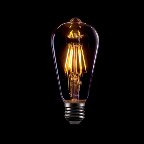 Vintage izzó, melegfehér fény, 8W, E27, ST64, dimmelhető