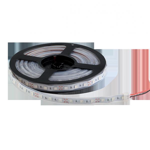 LED szalag 5050 24V DC 14,4W 60PCS/M IP67 6000-6500K , 5 MÉTER (1 TEKERCS)
