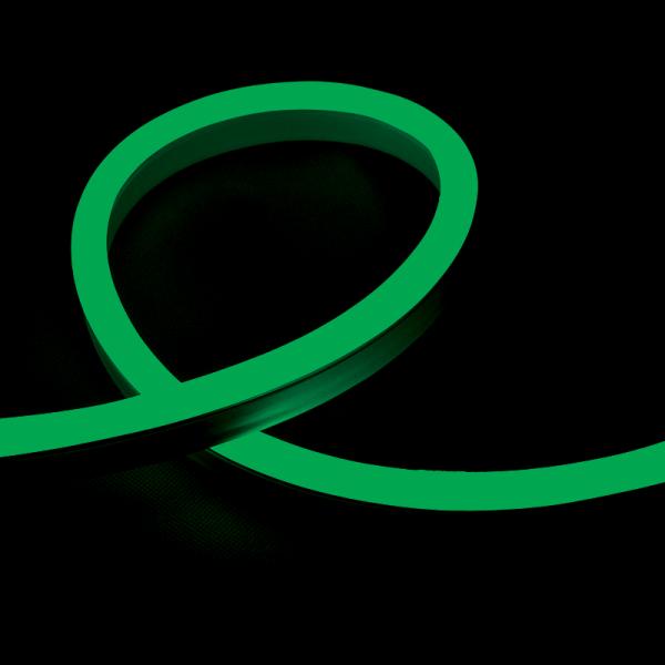 LED NEON FLEX 12W/M 24V IP65 zöld 10 méteres tekercs