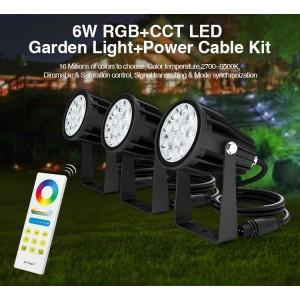Színes RGB+CCT LED kerti lámpa szett