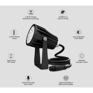 Miboxer okos LED kerti lámpa RGB+CCT 6W 550lm IP66 230V Rádiós működésű