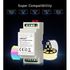 DIN sínre szerelhető LED szalag vezérlő 5IN1