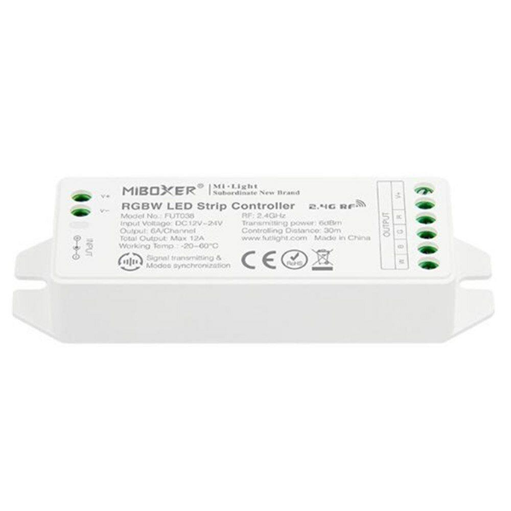 Miboxer RGBW Rádiós LED szalag vezérlő 12/24V 12A 144/288W
