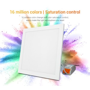 Miboxer RGB-CCT LED panel, 20W, 300x300 mm színes és változtatható fehér,