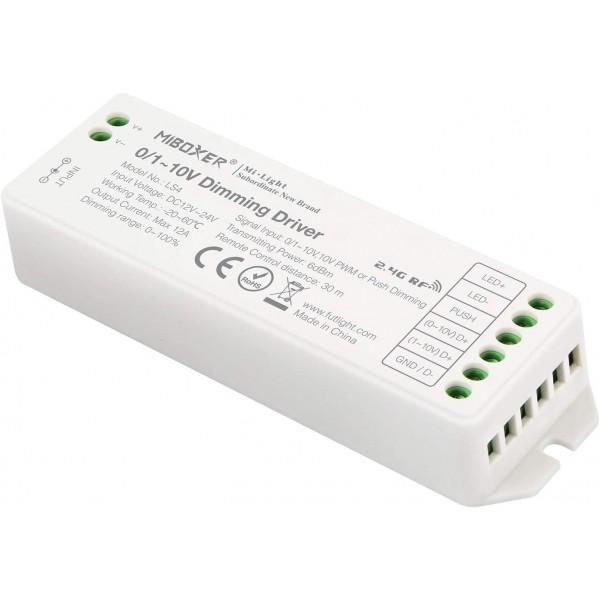 Miboxer Dimmer 0/1-10V vezérléssel 2,4GHz PUSH Bemenet 12-24VDC 144-288W