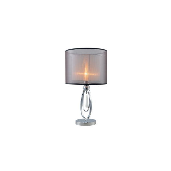 Elmark MERY asztali lámpa króm színű , áttetsző szövetbúrával- MERY lámpacsalád