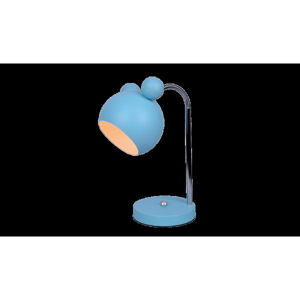 Mickey Egér formájú asztali gyereklámpa E27, világoskék bura, flexibilis kar, MICKEY lámpacsalád