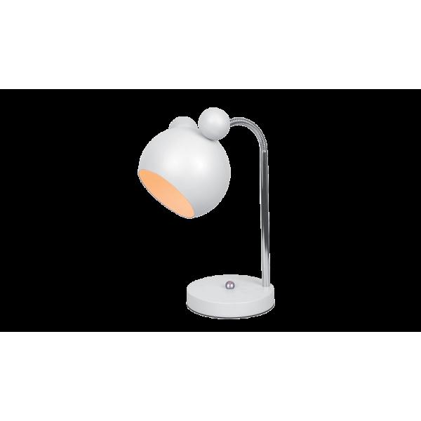Mickey Egér formájú asztali gyereklámpa E27, fehér bura, flexibilis kar, MICKEY lámpacsalád