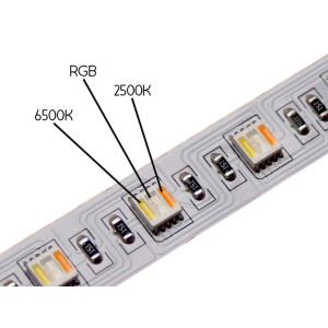 RGB+CCT LED szalag 24V 24W 1800lm/m