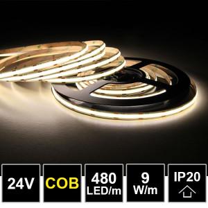 LEDTECH COB LED szalag magas fényvisszaadással CRI85-90 480LED/m 9W 4000K 900lm 24V