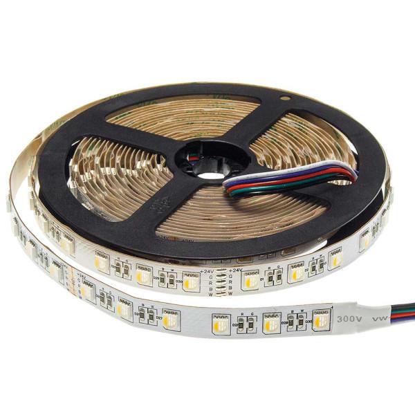 RGBwW LED szalag, IP20, 60LED/m, 24V, 16W/m