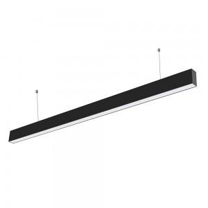 LED lineáris függesztett lámpatest hideg fehér fényű 6000K 40W fekete