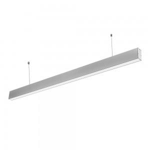 LED lineáris függesztett lámpatest hideg fehér fényű 6000K 40W ezüst