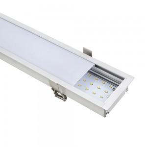 LED lineáris süllyesztett lámpatest természetes fehér fényű 4000K 40W fehér