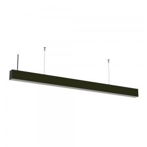 LED lineáris függesztett sorolható lámpatest természetes fehér fényű 4000K 40W fekete
