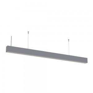 LED lineáris függesztett sorolható lámpatest természetes fehér fényű 4000K 40W ezüst