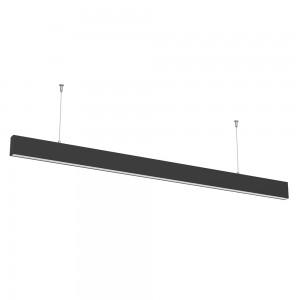 LED lineáris indirekt világítású lámpatest természetes fehér fényű 4000K 50W fekete
