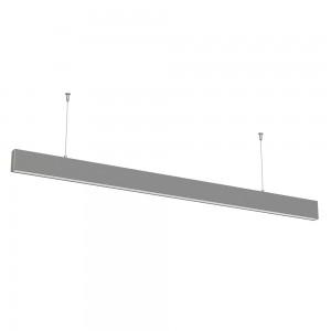 LED lineáris indirekt világítású lámpatest természetes fehér fényű 4000K 50W ezüst