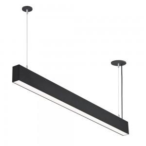 LED lineáris függesztett sorolható lámpatest természetes fehér fényű 4000K 50W UGR19 fekete