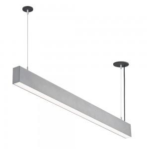 LED lineáris függesztett sorolható lámpatest természetes fehér fényű 4000K 50W UGR19 ezüst
