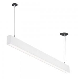 LED lineáris függesztett sorolható lámpatest természetes fehér fényű 4000K 50W UGR19 fehér