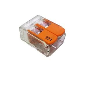 2 vezetékes 1 pólusú gyorscsatlakozó sodrott vezetékhez átlátszó 400V 32A  4mm2