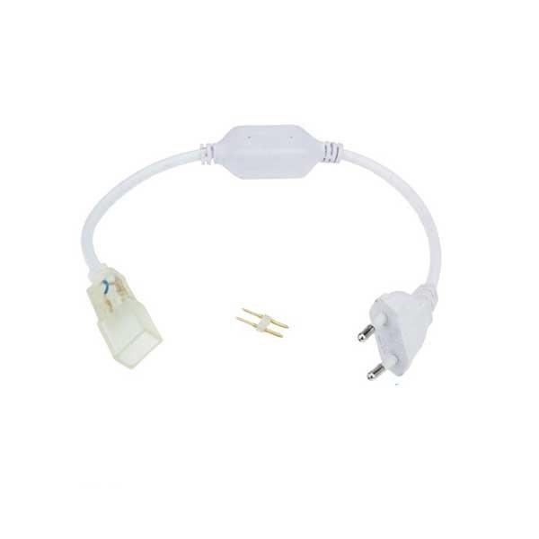 Dugvillával szerelt Flex neon betáp kábel 230V-os - Optonica