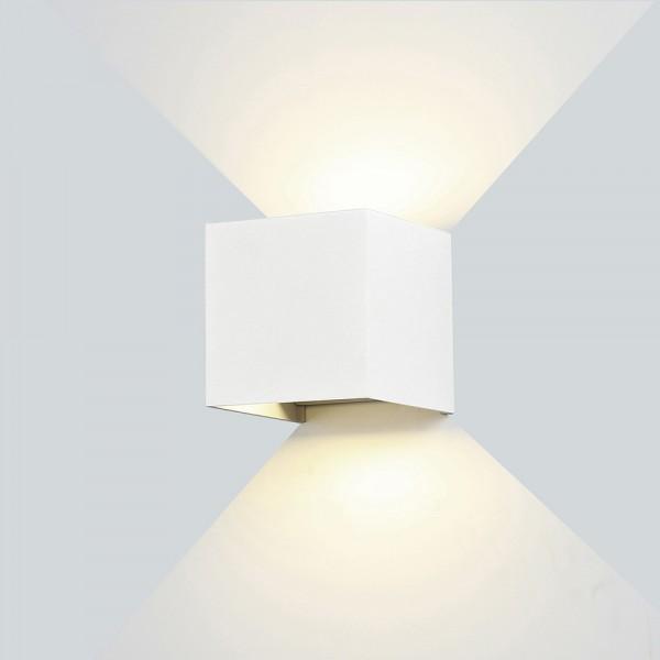Kültéri oldalfali LED lámpa fehér 6W 4000K - Optonica