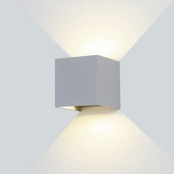 Kültéri oldalfali LED lámpa szürke 12W 3000K - Optonica