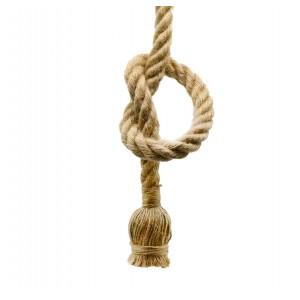 Kötél lámpafüggeszték E27 foglalattal fekete talppal 150cm