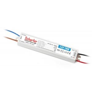 Scharfer vízmentes kültéri LED tápegység 18W 12V IP67 7év garancia