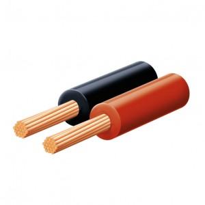 2x0,5 mm sodrott vezeték piros / fekete