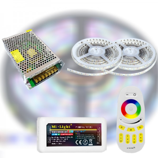Mi-Light RF RGBDW 5050-60 LED szalag szett 10m