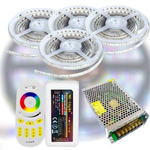 Mi-Light RF RGB 5050-30 LED szalag szett 20m