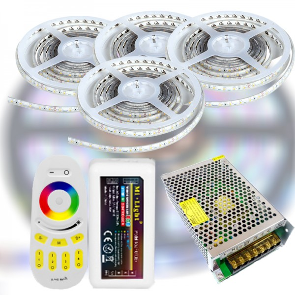 Mi-Light RF RGB 5050-60 LED szalag szett 20m