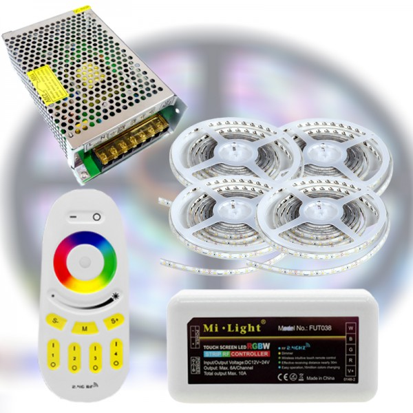 Mi-Light RF RGBWW 5050-60 LED szalag szett 20m