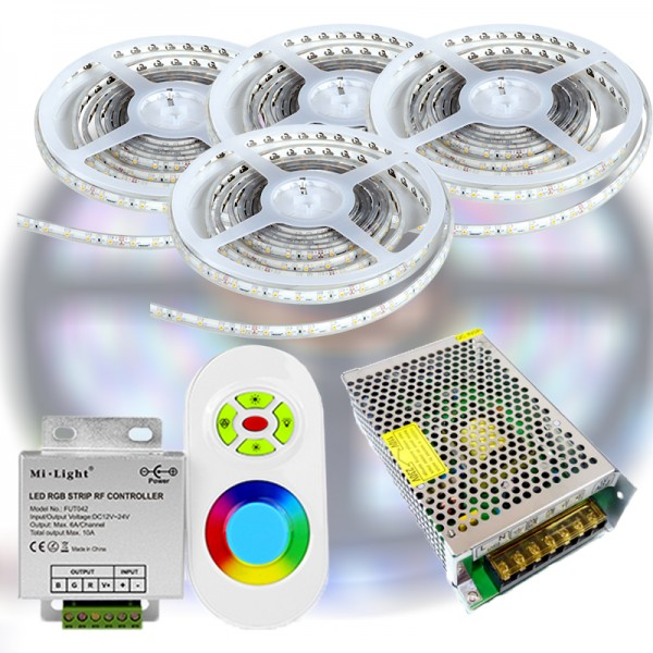 Mi-Light START RF RGB 5050-30 LED szalag szett 20m