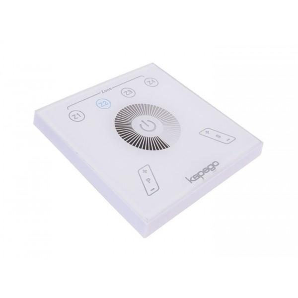 Fali rádiós távirányító 230V 4 zónás egyszínű LED vezérlőhöz