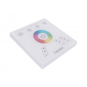 Fali rádiós távirányító 230V 4 zónás RGB színes LED vezérlőhöz