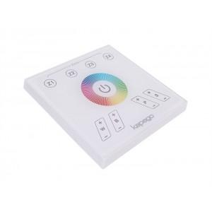 Fali rádiós távirányító 230V 4 zónás RGB+W színes és fehér LED vezérlőhöz
