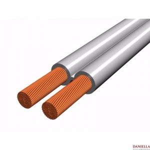 2x0,75 mm2 sodrott vezeték - Fehér