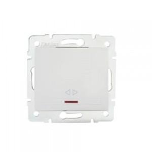 DOMO Jelzőfényes alternatív váltó kapcsoló   , fehér
