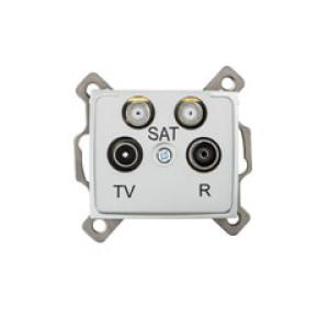 DOMO Antenna csatlakozó TV R SAT SAT aljzat , végzáró  , ezüst