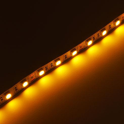 LED szalag , SMD 5050, 60 led/m , 10,8W/m , 1000 Lumen, sárga