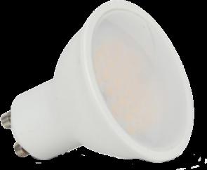 LED lámpa , égő , szpot , GU10 foglalat , matt előlappal , 110° , 7 Watt , meleg fehér , dimmelhető