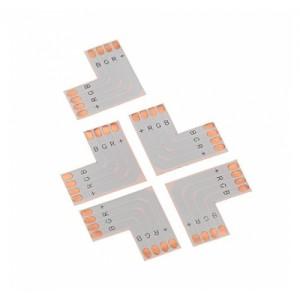 Led szalag PCB elosztó elem, L irányú, 5050 RGB szalagokhoz,