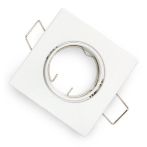 Egyszerű spotkeret, GU10 és MR16 lámpákhoz, fehér, négyzet