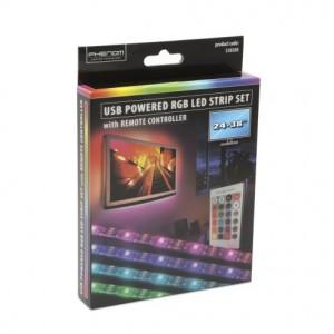 USB csatlakozós RGB LED szalag szett, 24-38'' TV-hez háttérvilágítás